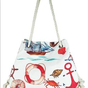 Bags - Fashion Sea Life Print Bag / Tote